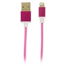 USB to Lightning Fabric Charge and Sync Cable, Pink , C115-PK