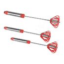Ronco Self Turning Turbo Whisk, Red (3 Pack)