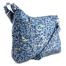 Travelon Anti-Theft Asymmetric RFID Crossbody, Blue Leopard