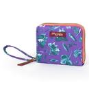 Po Campo Bill Fold Wallet, Purple Petals