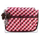 Jacki Design Large Retro Plaid Magazine Holder, Coral