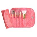 Jacki Design Vintage Allure 5 Pc Make Up Brush Set And Bag, Coral