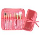 Jacki Design Vintage Allure 7 Pc Make Up Brush Set And Bag - Coral