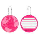 Protege Neon Round EZ ID Luggage Tags, 2 Pack Pink
