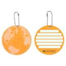 Protege Neon Round EZ ID Luggage Tags, 2 Pack Orange