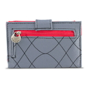 Travelon SafeID Embroidered Tri-Fold RFID Wallet - Gray/Scarlet