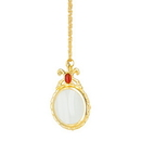 Generic 1136 Victorian Necklace Magnifier, Gold with Jewel Accent