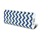 instaCharge EL-88K(BLUCHV) instaCHARGE 8800mAh Dual USB Power Bank Portable Battery Charger Blue Chevron