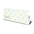 instaCharge EL-88K(GLDDOT) instaCHARGE 8800mAh Dual USB Power Bank Portable Battery Charger Gold Polkadot