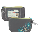 Travelon 23136-540-0060-01 Travelon RFID Blocking Daisy Zip ID Pouch, Pewter