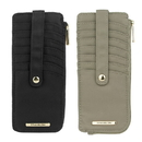 Travelon F12720 848000 Travelon Set of 2 RFID Anti-Theft Tailored Slim Zip Wallets (Sable & Onyx)