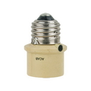 Westek SLC4CPL Brass Tone Dusk-to-Dawn Screw-In Socket On/Off Light Control