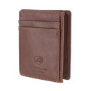 Travelon 72488-780 Travelon Leather Hack-Proof RFID Blocking Cash Card Sleeve and Wallet Brown