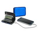 Viatek MJWAL01-BLU Viatek Pocket Jump Card Holder Wallet and 2300mAh Power Bank Portable Charger
