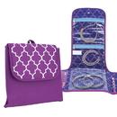 Travelon 42835 Travelon Folding Jewelry Organizer Bag Necklace Earrings Rings Bracelet Purple