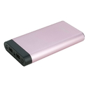 instaCharge 57733714M InstaCHARGE 16000mAh Dual USB Power Bank Portable Battery Charger Rose Gold