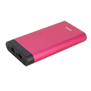 instaCharge 577337611 InstaCHARGE 16000mAh Dual USB Power Bank Portable Battery Charger Red EL-16000U