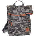 Buxton EX91423-GY Buxton Men's Expedition II Huntington Gear Fold-Over Canvas Backpack Gray Camo