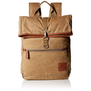 Buxton EX91423 Buxton Men's Expedition II Huntington Gear Fold-Over Canvas Backpack Tan