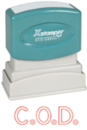 Xstamper 1011 1-Color Pre-Inked Title Stamp reads: