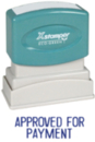 Xstamper 1025 Title Stamp - Approved - Payment, Blue, 1/2