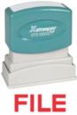 Xstamper 1051 1-Color Pre-Inked Title Stamp reads: