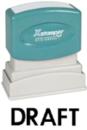 Xstamper 1068 1-Color Pre-Ink Title Stamp reads: