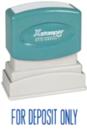Xstamper 1121 Title Stamp - For Deposit Only, Blue, 1/2