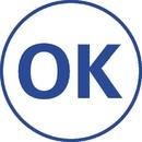 Xstamper 11357 Specialty Stamp - OK, Blue, 5/8