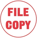 Xstamper 11411 Specialty Stamp - File Copy, Red, 5/8