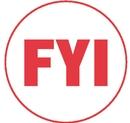 Xstamper 11413 Specialty Stamp - FYI, Red, 5/8