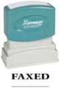 Xstamper 1216 1-Color Pre-Inked Title Stamp reads: