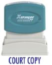 Xstamper 1337 Title Stamp - Court Copy, Blue, 1/2