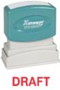 Xstamper 1360 1-Color Pre-Inked Title Stamp reads: