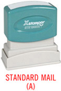 Xstamper 1381 Title Stamp - Standard Mail (A), Red, 1/2