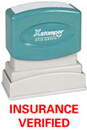 Xstamper 1633 Title Stamp - Insurance Verified, Red, 1/2