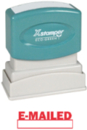 Xstamper 1650 Title Stamp - E-Mailed, Red, 1/2