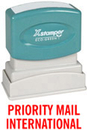 Xstamper 1726 Title Stamp - Priority Mail International, Red, 1/2