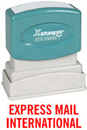 Xstamper 1727 Title Stamp - Express Mail International, Red, 1/2