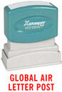 Xstamper 1812 Title Stamp - Global Air Letter Post, Red, 1/2