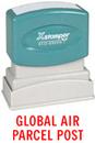 Xstamper 1813 Title Stamp - Global Air Parcel Post, Red, 1/2
