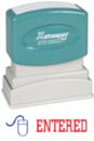 Xstamper 2027 2-Color Pre-Inked Title Stamp reads: