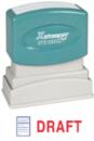 Xstamper 2031 2-Color Pre-Inked Title Stamp reads: