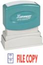 Xstamper 2032 2-Color Pre-Inked Title Stamp reads: