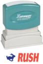 Xstamper 2040 2-Color Pre-Inked Title Stamp reads: