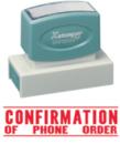 Xstamper 3214 Jumbo Stamp - Confirm Phone Order, Red, 7/8
