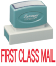 Xstamper 3239 Jumbo Stamp - First Class Mail, Red, 7/8