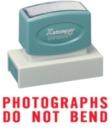 Xstamper 3242 Jumbo Stamp - Photographs Do Not Bend, Red, 7/8