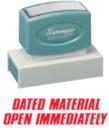 Xstamper 3247 Jumbo Stamp - Dated/Open, Red, 7/8