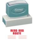 Xstamper 3250 Jumbo Stamp - Read and Route, Red, 7/8